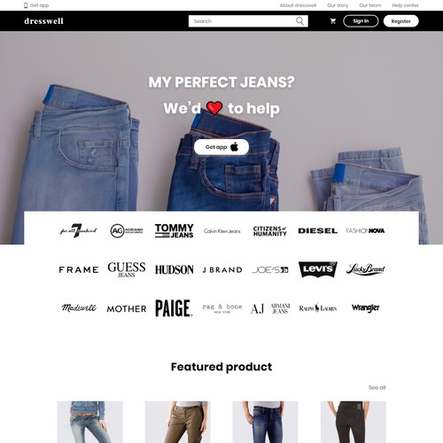 Fashion & App landing Page