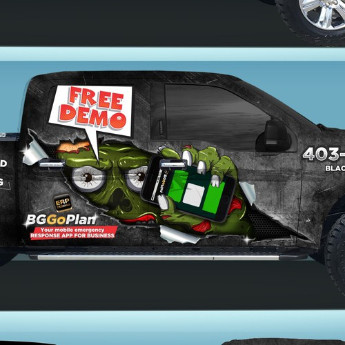 Zombie 3D truck design