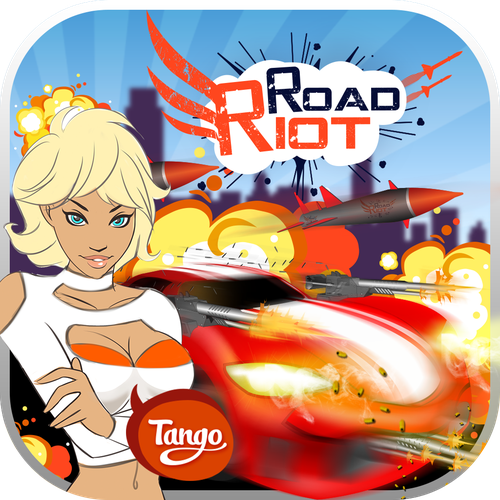 Create the new app icon for the Road Riot racing game