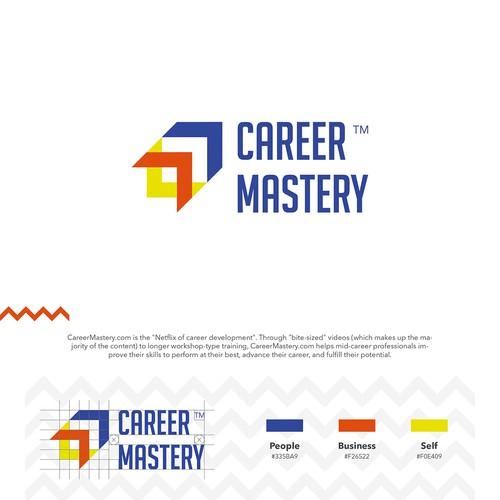 CAREER MASTERY Logo Design Concept