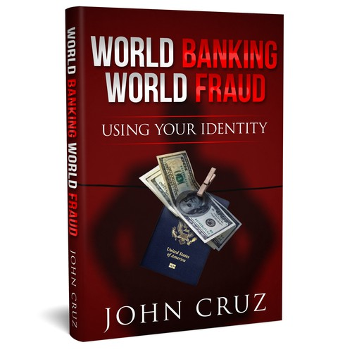 Simple Cover concept for Book about fraud