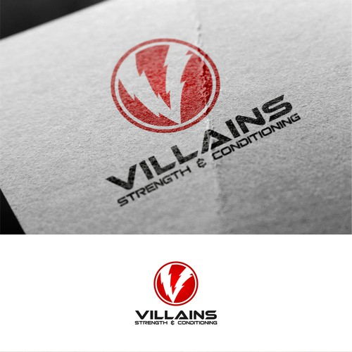 simple logo concept for villains