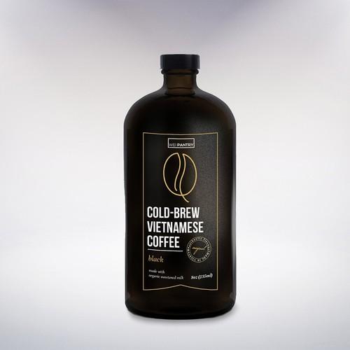 Minimal Coffee Brew label