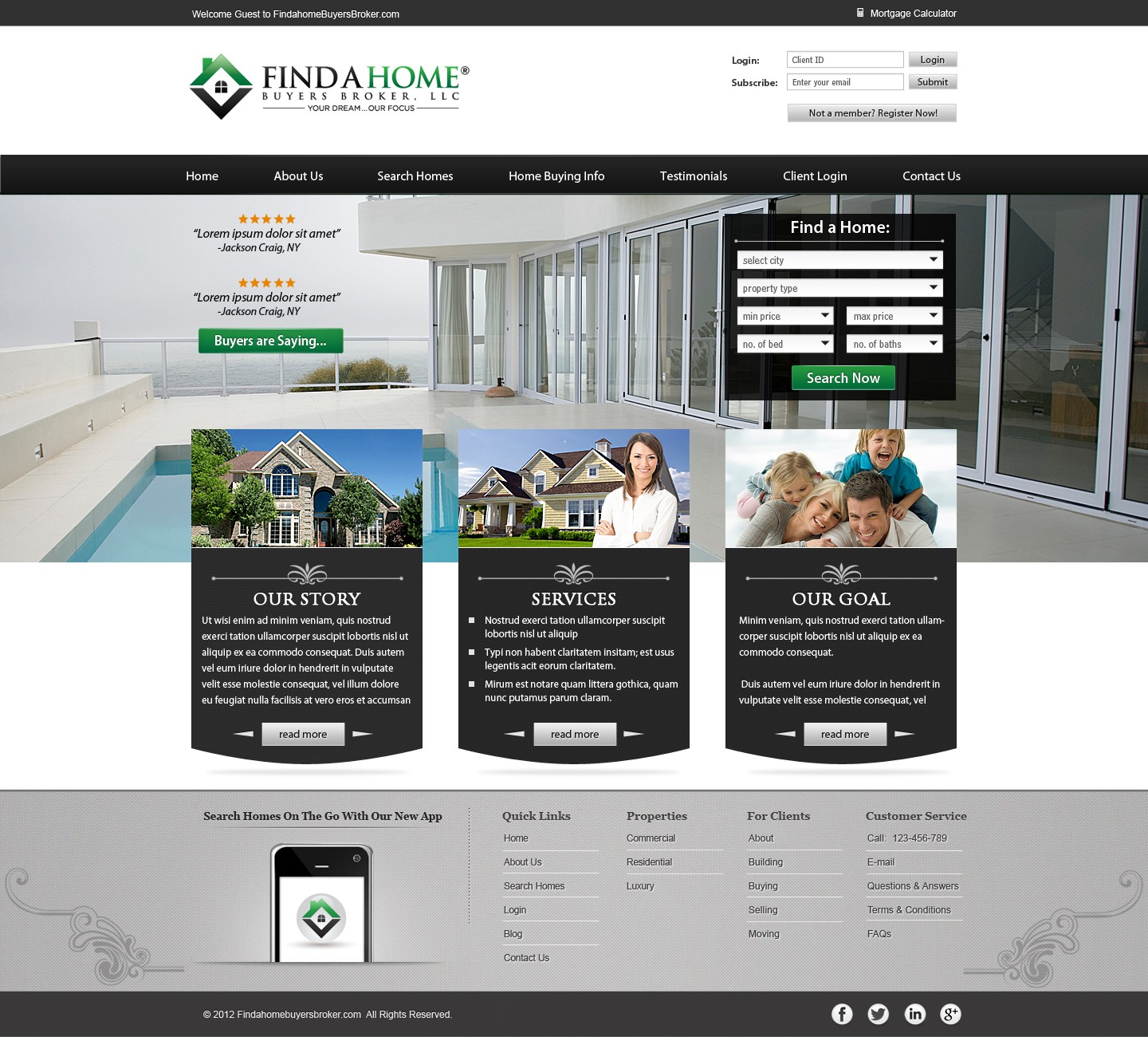 **Guaranteed $$ to winner** WEBSITE: FINDAHOME BUYERS BROKER, LLC