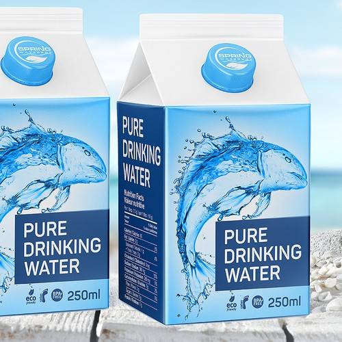 Packiing Pure Drinking Water in Box