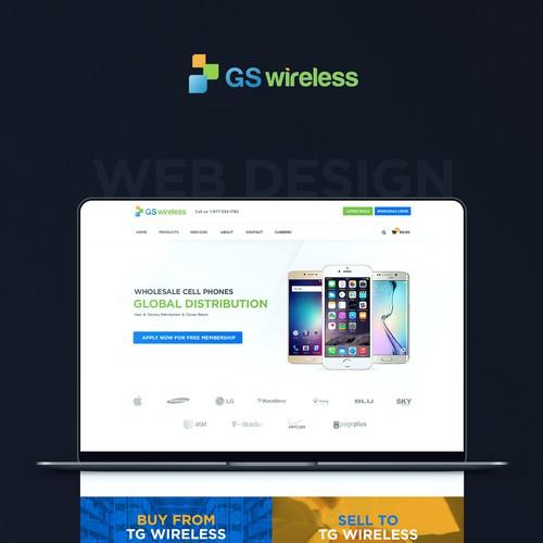 Cell Phones online shop web design