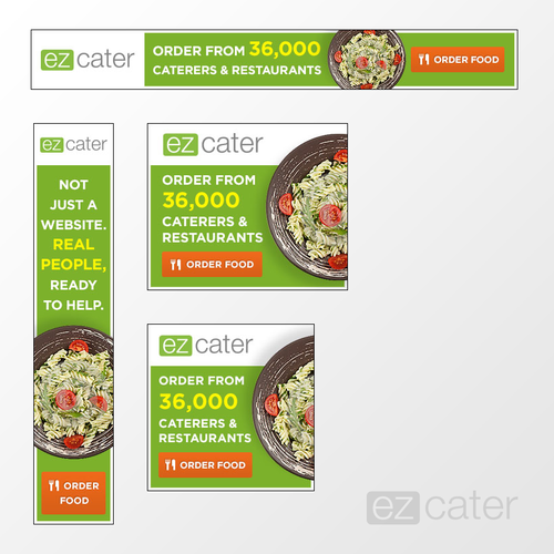 Fresh banner ads for web marketplace ezCater.com