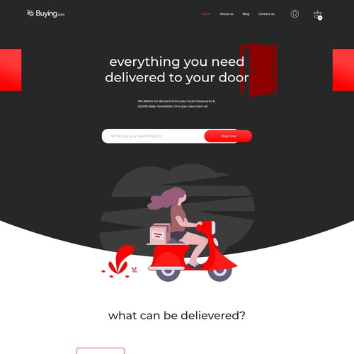 Minimal and clean homepage for your shopping website