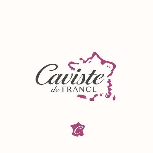 Elegant logo for Caviste de France