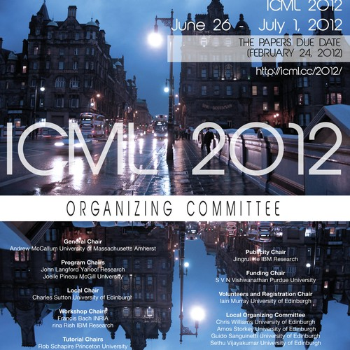 print or packaging design for ICML2012