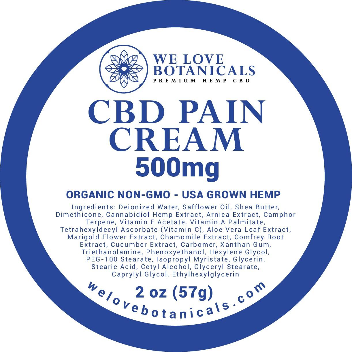 5 Product Labels based on We Love Botanicals logo