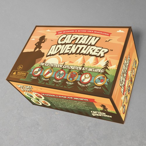 Winning design: Captain Adventurer packaging design