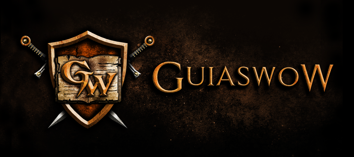 Build an awesome World of Warcraft community website logo for GuiaswoW!