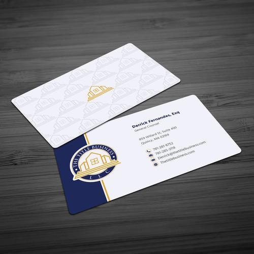 Elegant business card for Title business llc