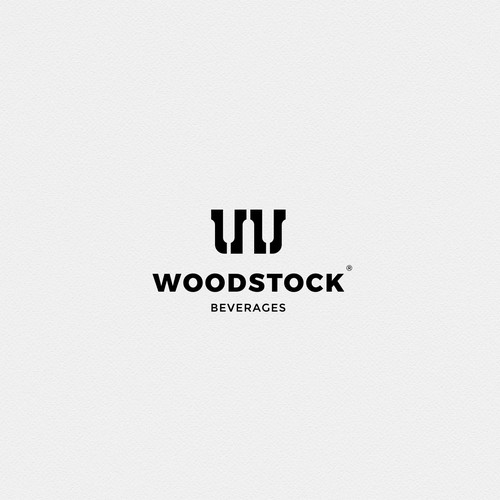 Woodstock Beverages logo design