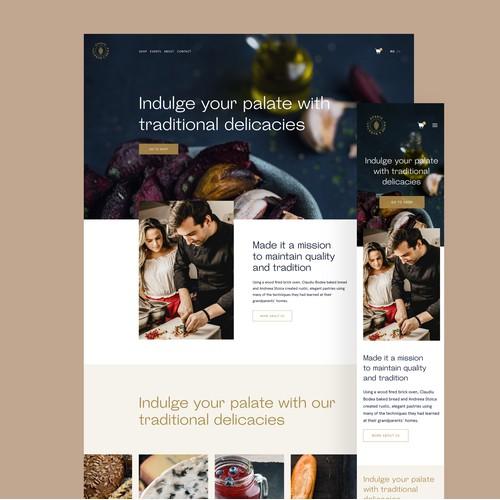 Bakery Web Design