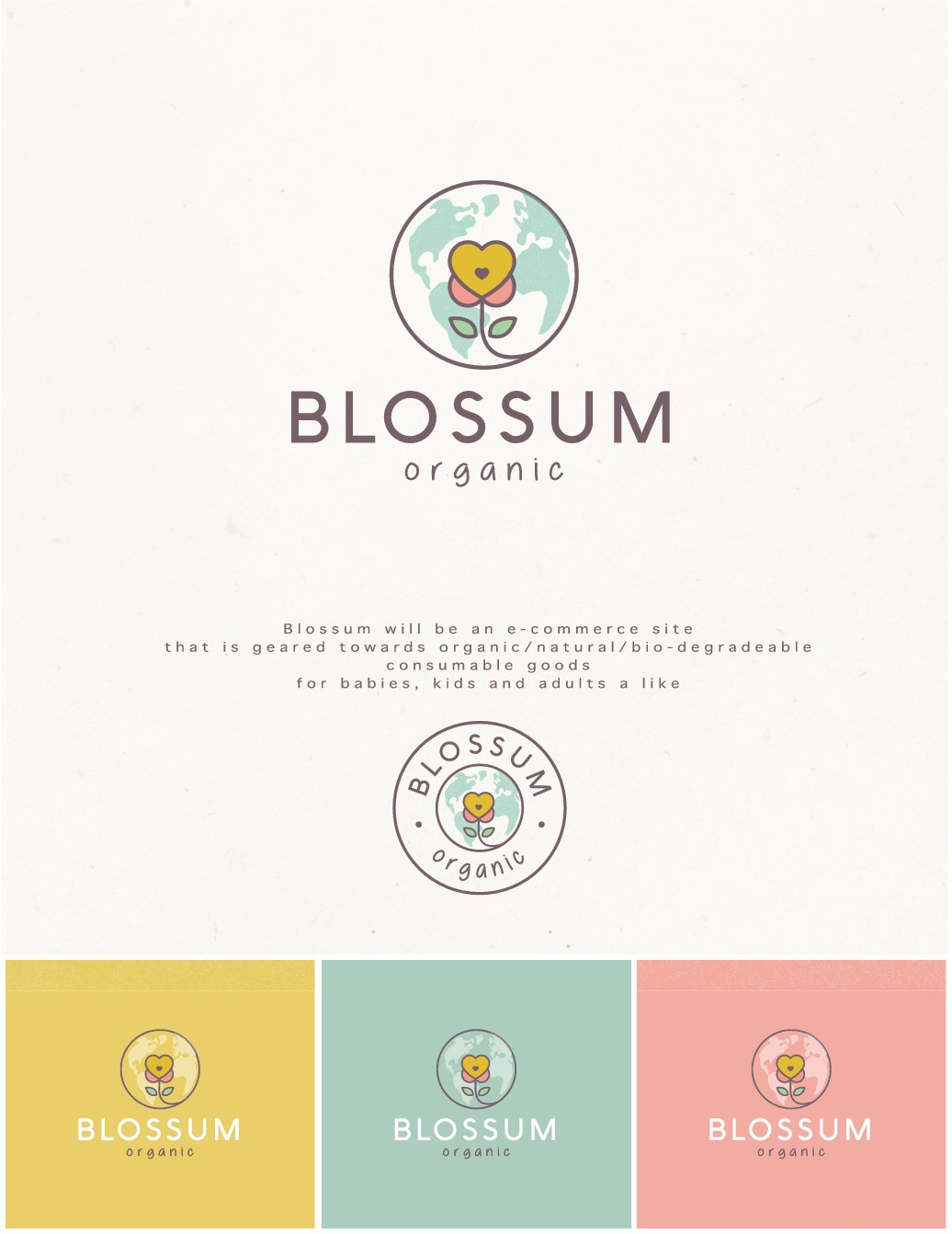 Logo for new e-commerce Organic/Environmentally Friendly Baby, Kids Products Store