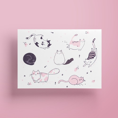 Design  playful fat cats