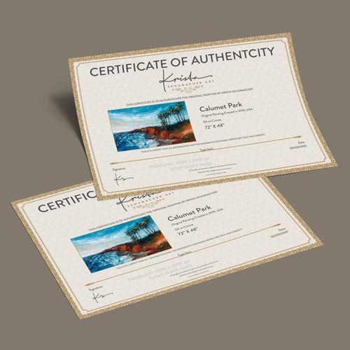Certificate Designed for KSM Landscape