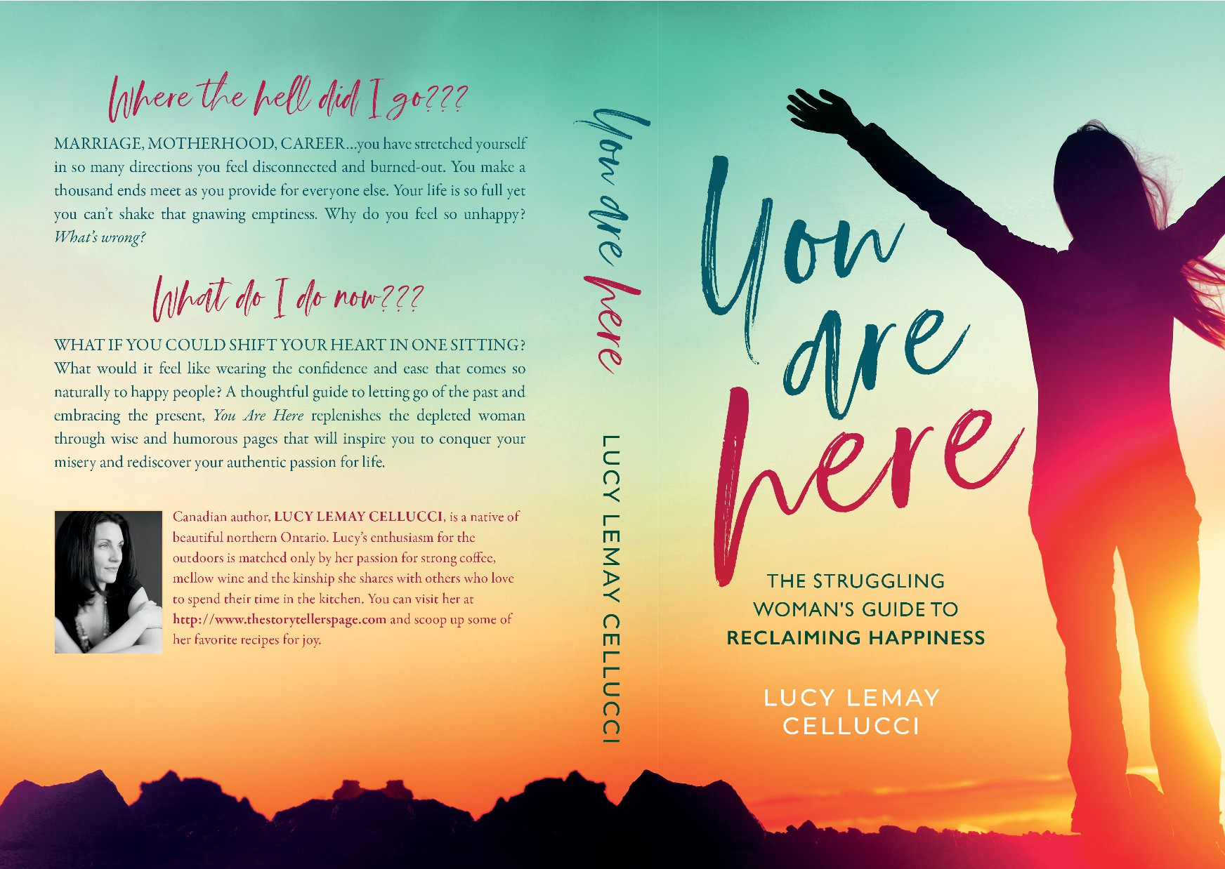 Create a powerful, eye-catching cover for a self-help book