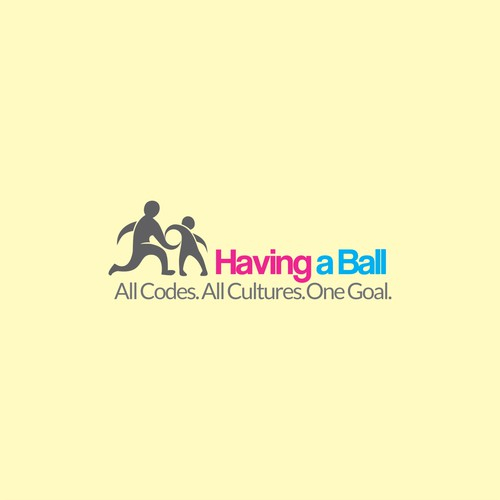 Designing a logo for havingaball.org - a BALL SPORTS CHARITY