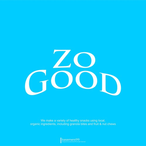 Create a distinctive logo for ZoGood, an organic snack food company