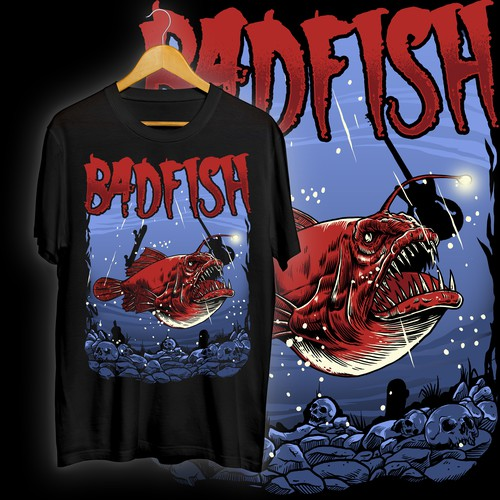 Badfish illustration design merchandise