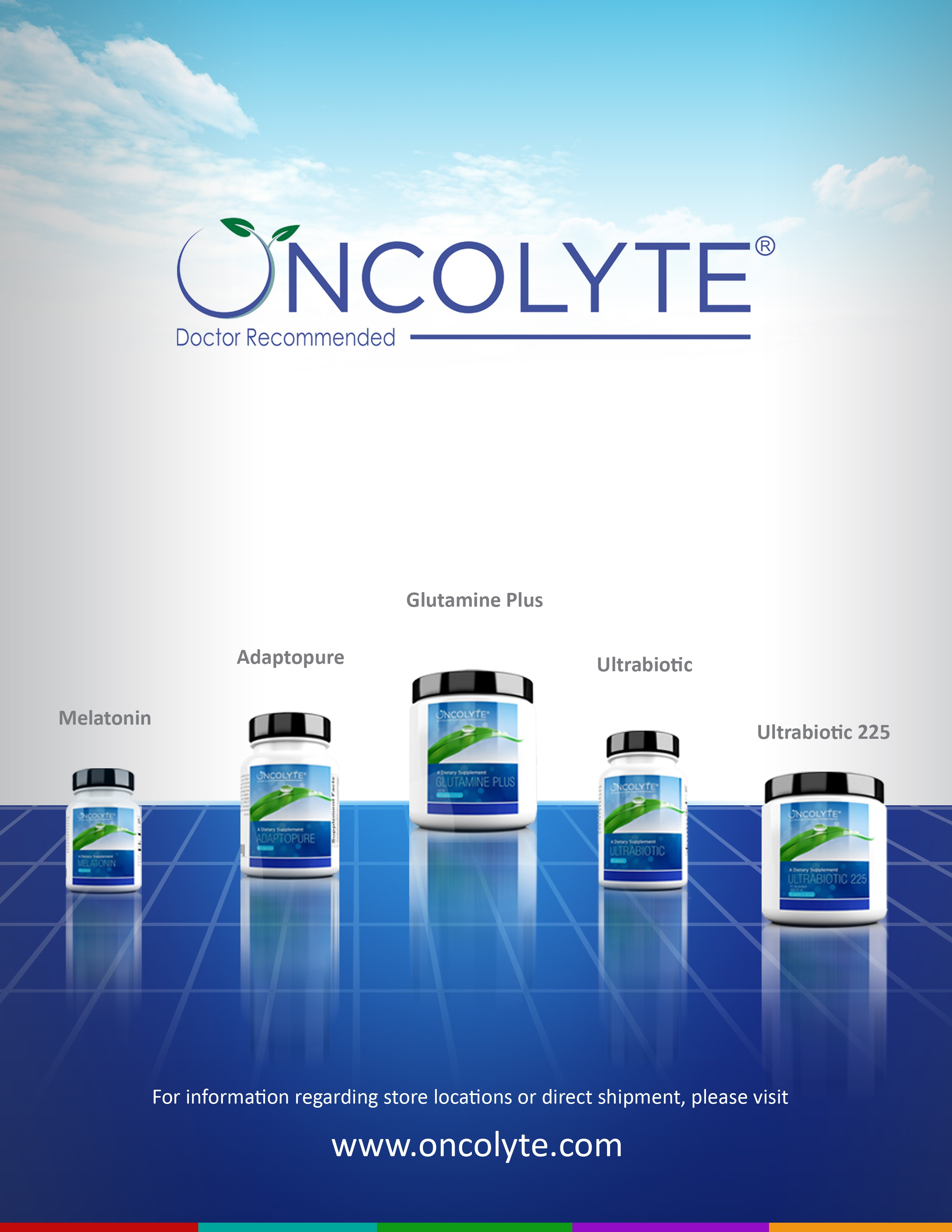 Infographic for our supplement line