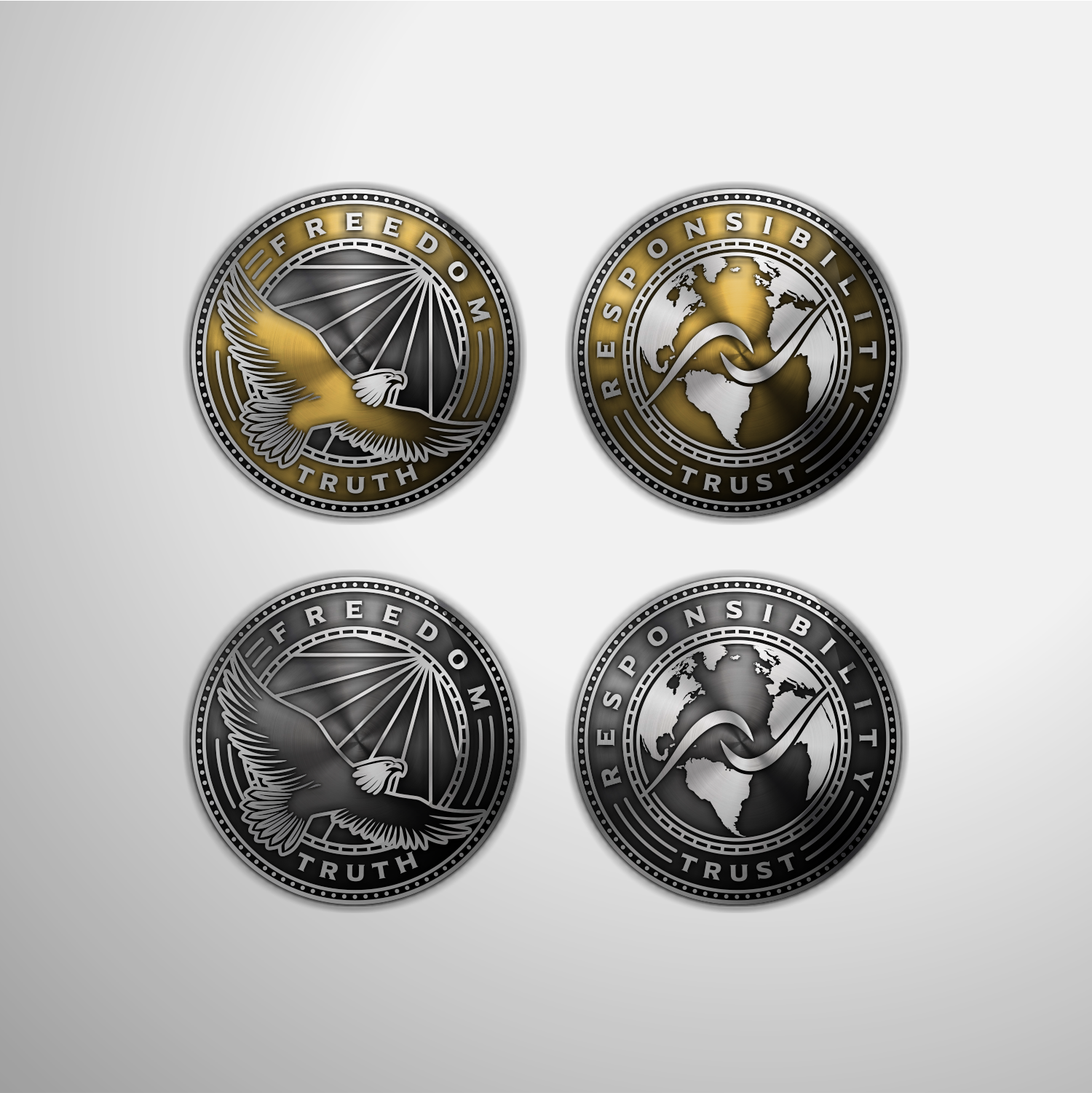 FREEDOM/RESPONSIBILITY Coin to inspire people