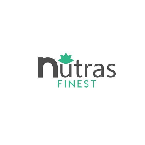 Modern concept for natural pharmceutical logo.