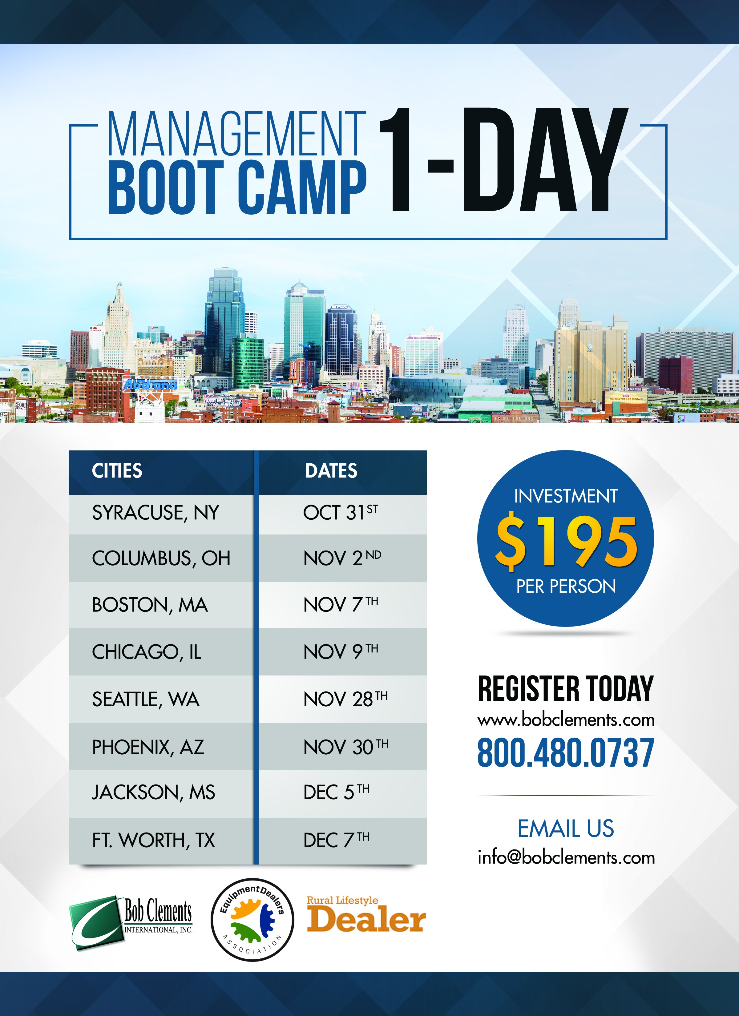 BCI Regional Boot Camp Flyer