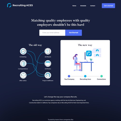 Recruting aces landing page concept #2