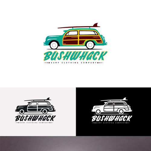 Surf Clothing Brand (Woody Car/VW Bus)