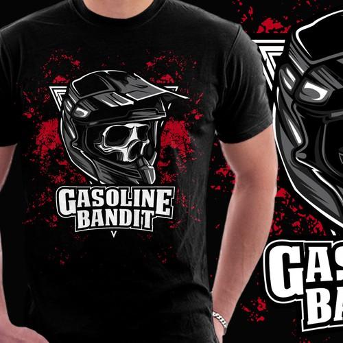 """+++Shirt Design for Racer/Biker/Tuner """"GASOLINE BANDIT""""+++"""