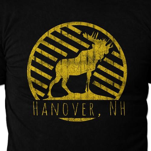 """""""Hanover, NH"""" t-shirt design"""
