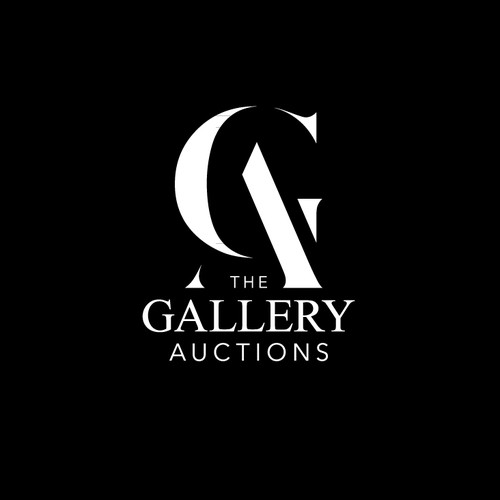 Modern logo for The Gallery Auctions