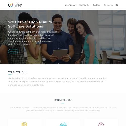 Lexicon Digital Web Page Design