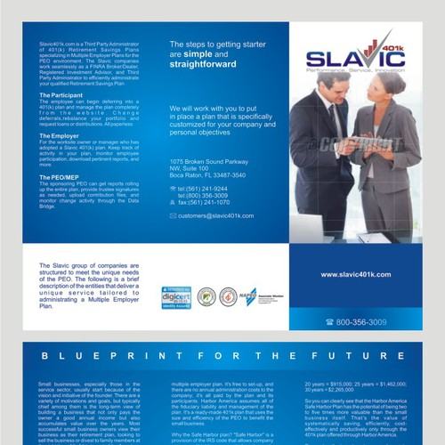 Help Slavic401k with a new brochure design