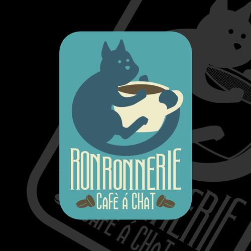 Un logo qui Ronronne pour un café à chat !