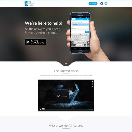 My Phone Tutor Landing Page