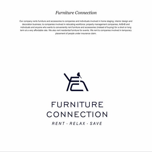 Create a contemporary but warm logo design of Furniture Rental business