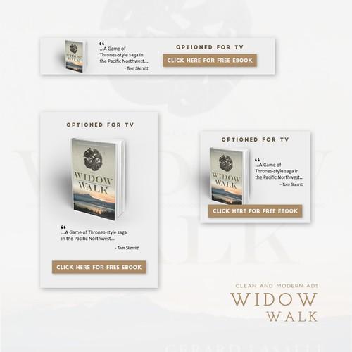 Banner ads for Widow Walk