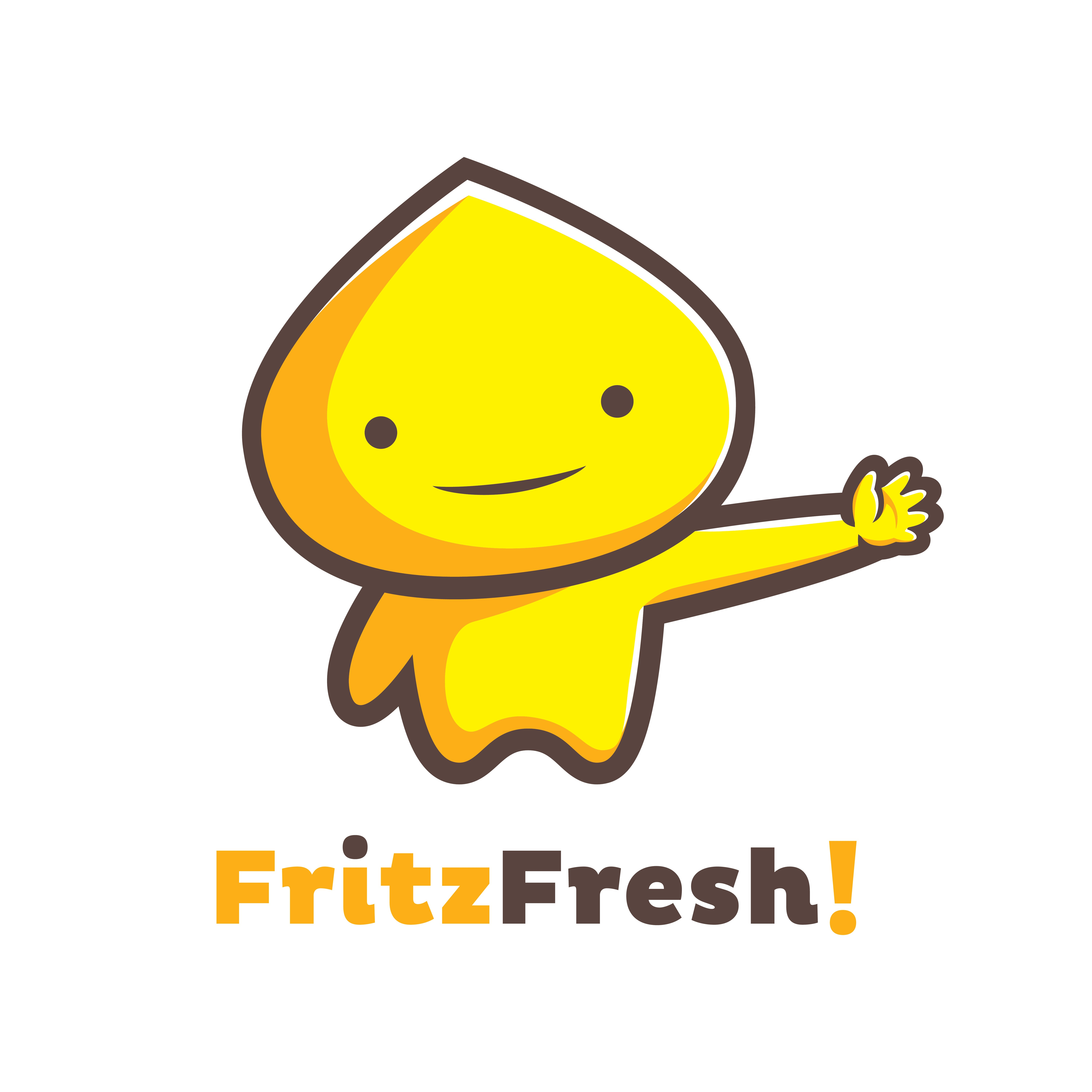 Fritz Fresh Logo for cardboard boxes filled with zip lock bags