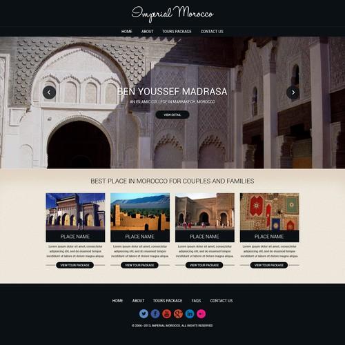 website design for Imagine Morocco