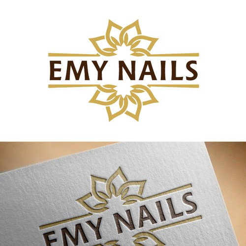 Clean logo design for Emy Nails