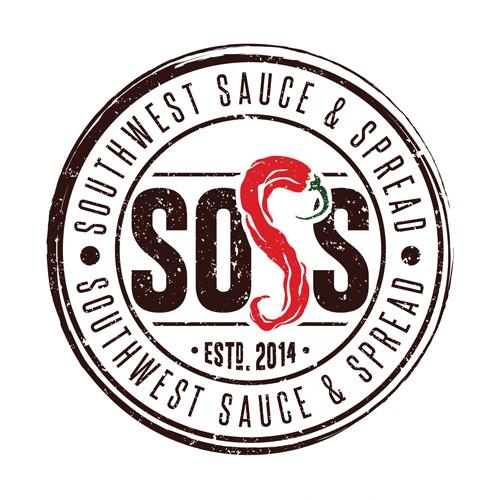A playful vintage logo for hot sauce