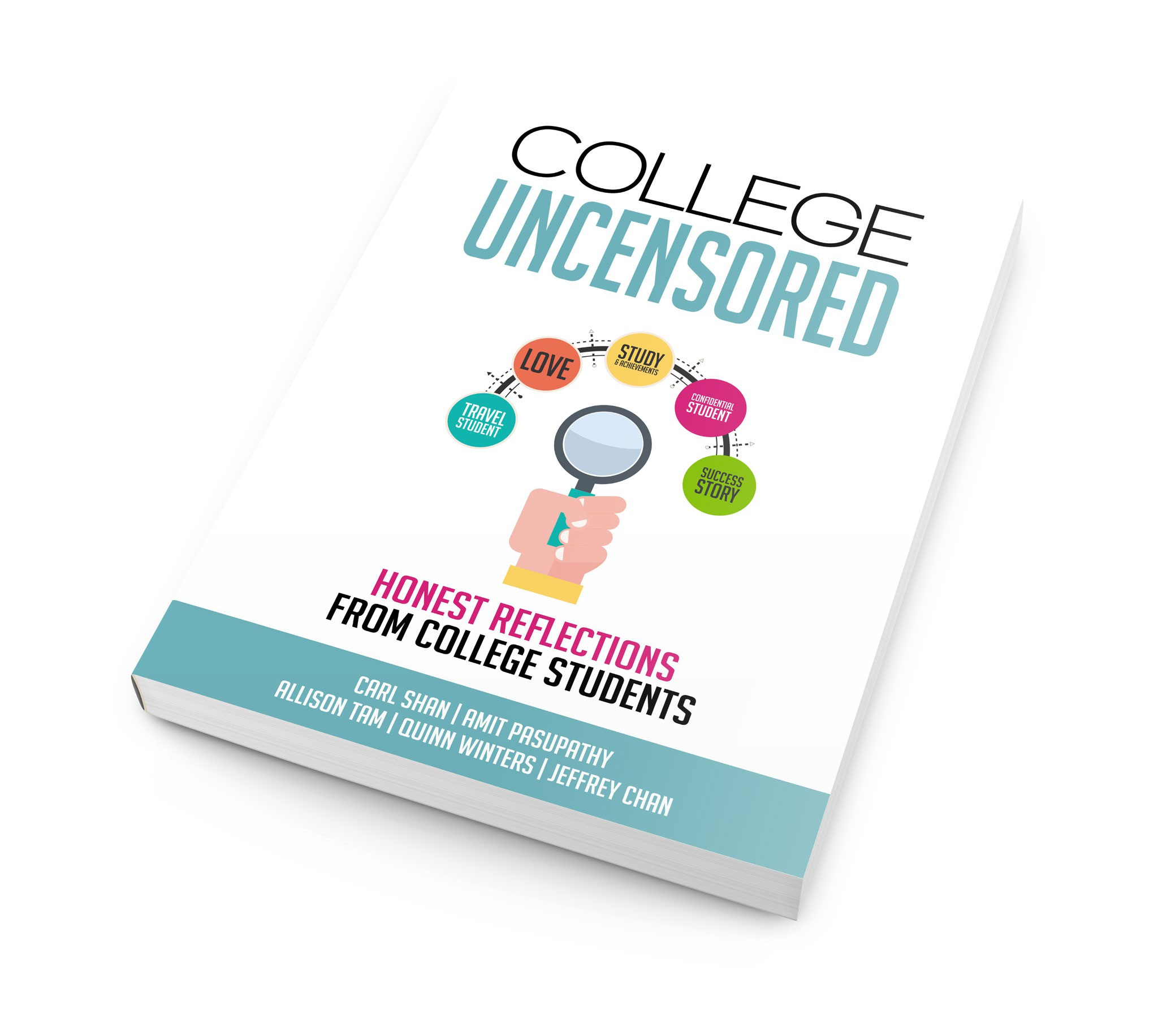 Designing the front of a book cover on US colleges