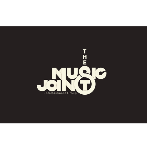 A typographic logo for a music company
