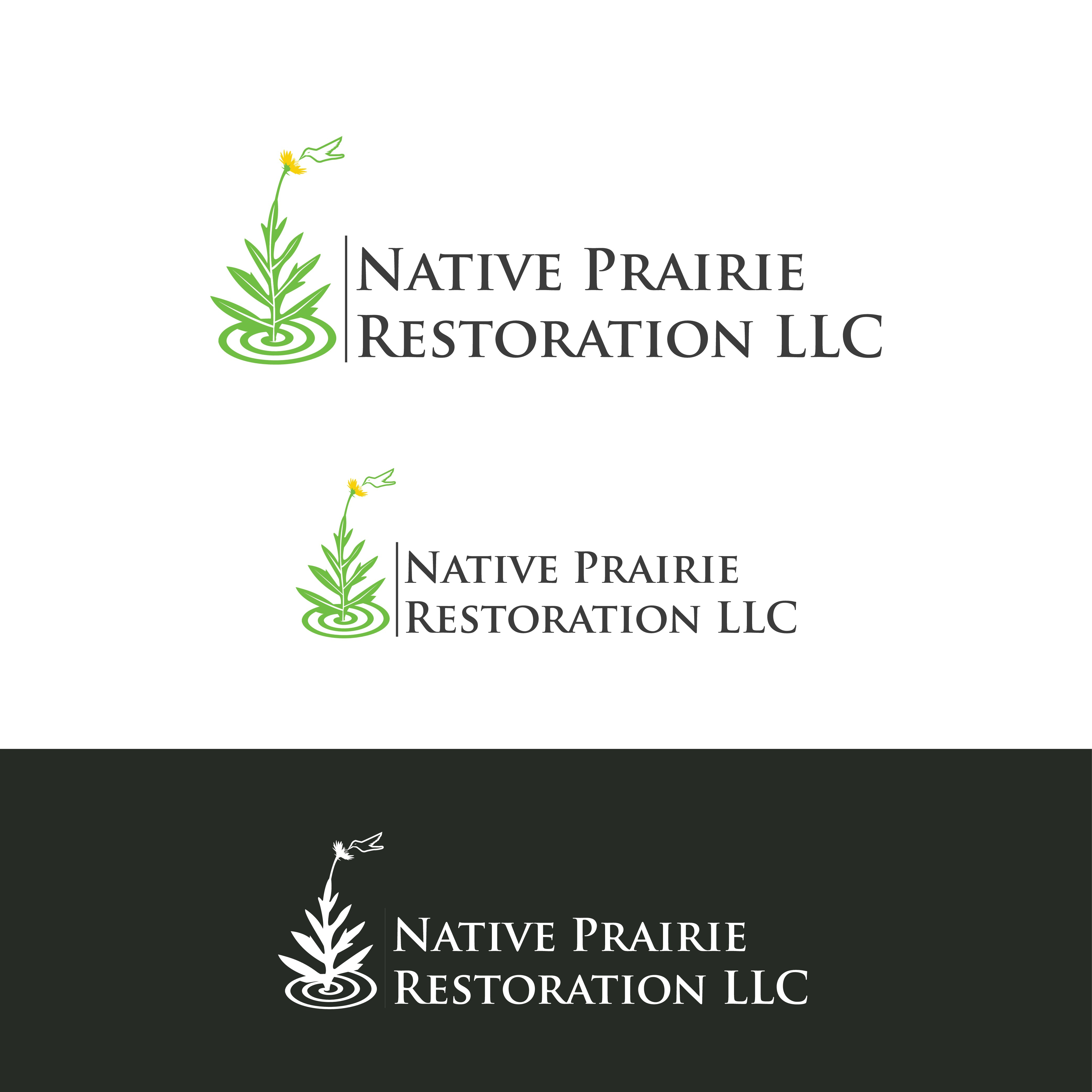 Create a visually appealing, organic logo for our native prairie restoration business.