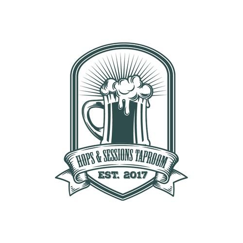 Hipster consept logo craft beer